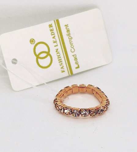 Adjustable Stretch Ring * Fits size 7.5 up * CZ * G11