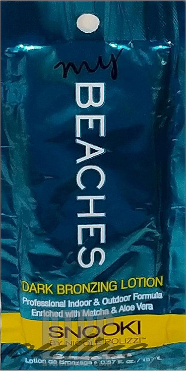 My Beaches * Dark Bronzing Lotion * .57oz Packette