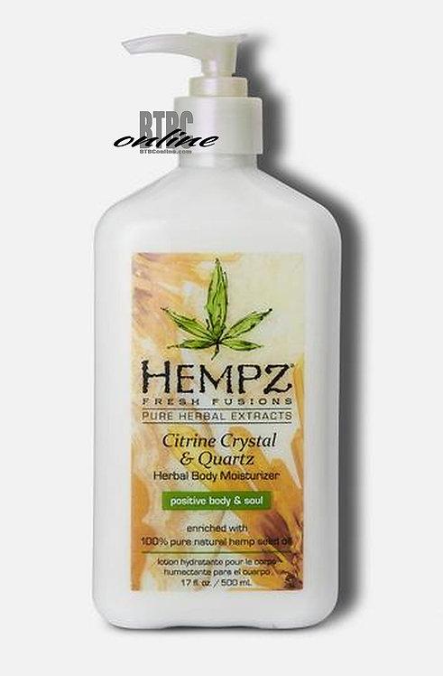 Citrine Crystal & Quartz Herbal Body Moisturizer * 17oz