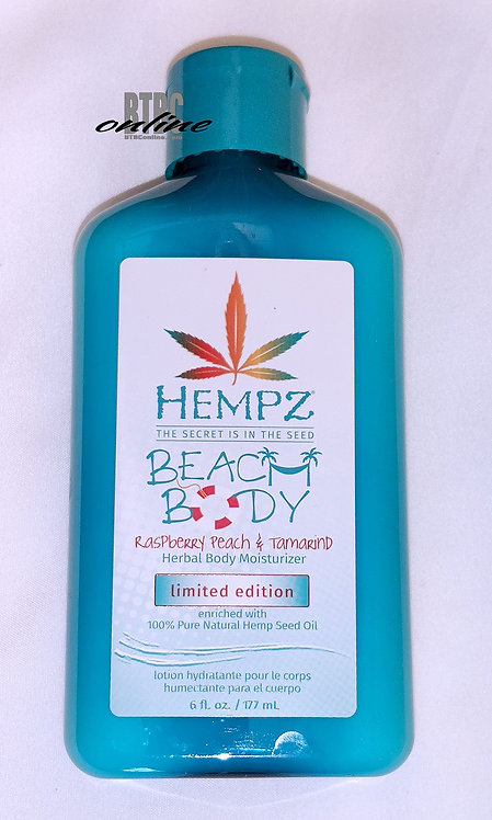 LIMITED EDITION * Beach Body* Raspberry peach & Tamarind * 6oz Bottle