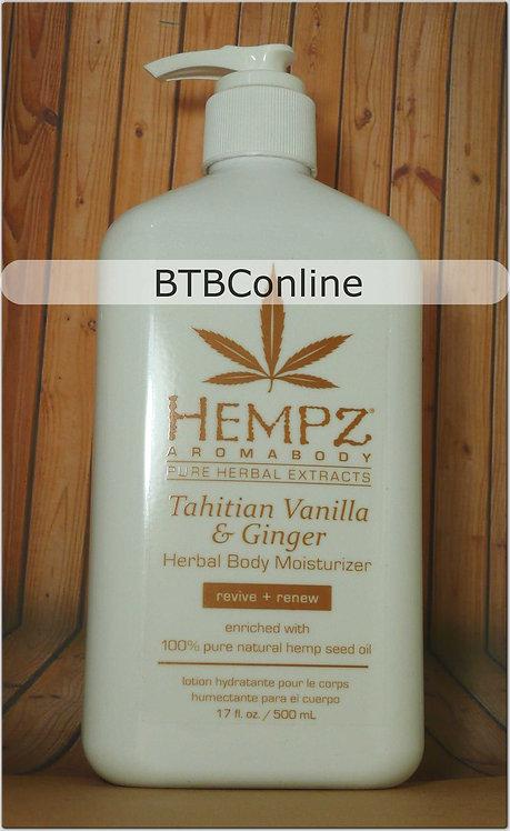 Tahitian Vanilla & Ginger * Herbal Body Moisturizer * 17oz bottle