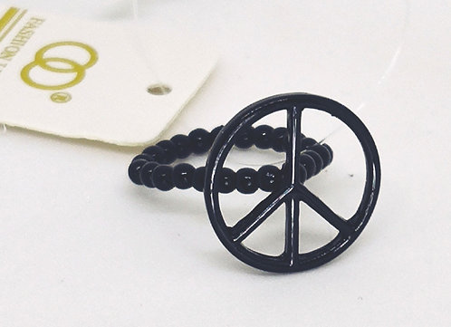 Adjustable Stretch Ring * Fits size 7.5 up * Peace * G12
