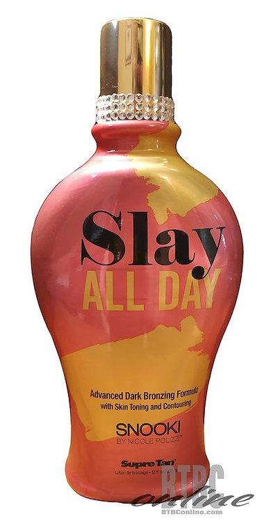 SLAY ALL DAY * Advanced Dark BRONZER * SYNTH DYE-FREE * 12oz Bottle