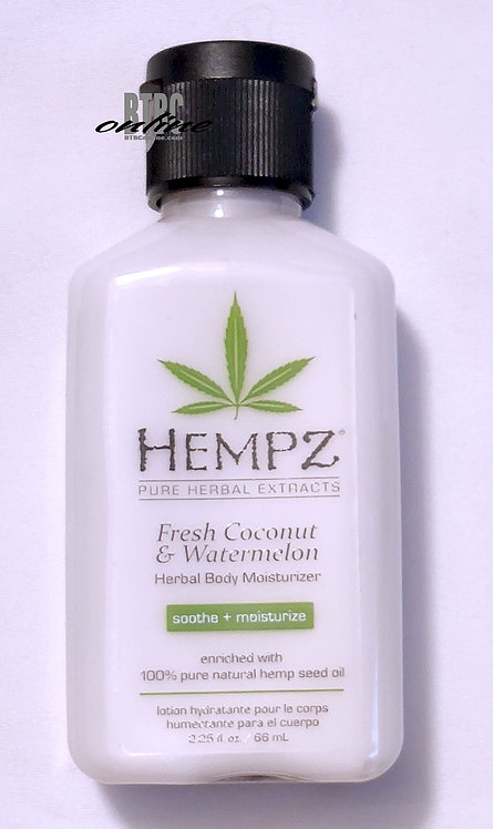 Fresh Coconut & Watermelon Herbal Body Moisturizer * 2.25oz Bottle