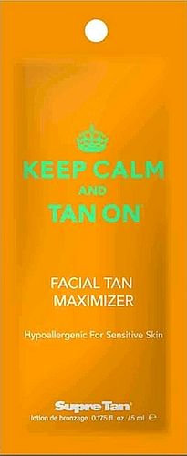 Keep Calm and Tan On * Hypoallergenic Face Maximizer * .175oz Packette