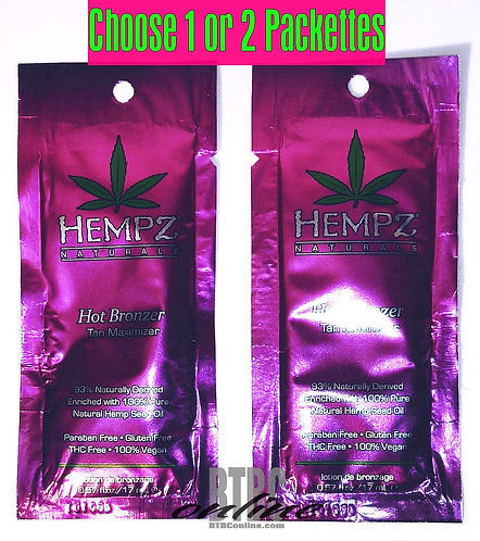 Hempz * Hot Bronzer * TINGLE Packette