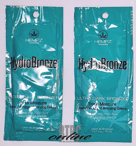 HYDROBRONZE * Ultra Dark Bronzer Triple moisture bronzing creme * .57oz Packette