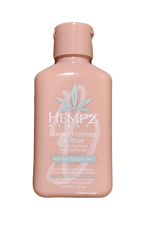 Sweet Jasmine & Rose Collagen Infused Herbal Body Moisturizer 2.25oz Bottle