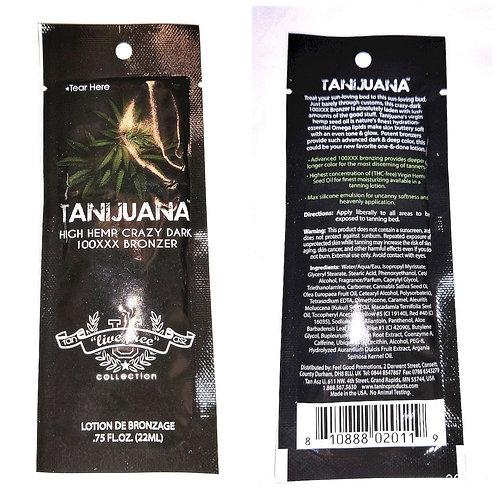 Tanijuana High Hemp Crazy Dark 100XXX Bronzer * .75oz Packette