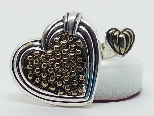 Adjustable Wrap Ring * Double Heart * S18
