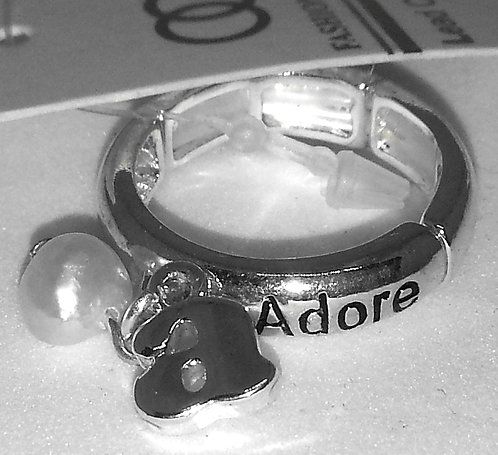 Adjustable Stretch Ring * Fits size 7.5 up * Adore * Pearl