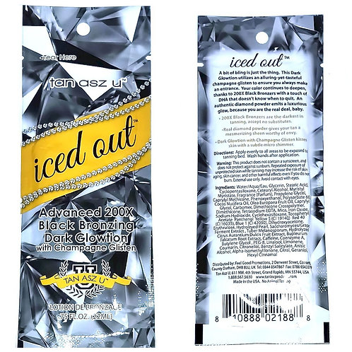 ICED OUT Advanced 200X Black Bronzing Dark Glowtion w/champagne * .75oz Packette