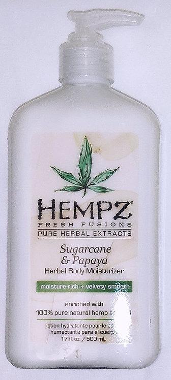 Sugarcane & Papaya * Hempz Herbal Moisturizer - 17oz bottle