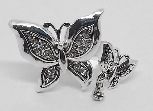 Adjustable Wrap Ring * Butterfly's * S17