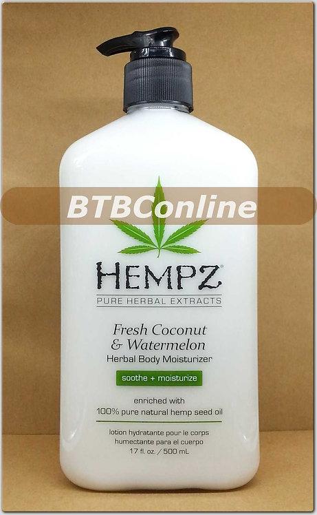 Fresh Coconut & Watermelon Herbal Body Moisturizer * 17oz Bottle
