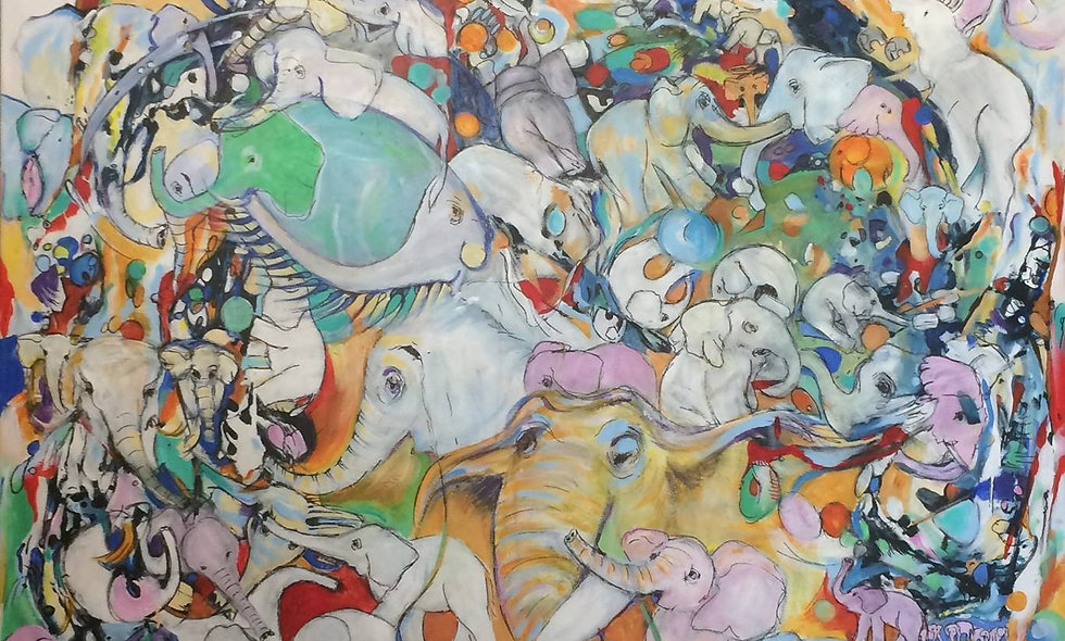 Painting: Pachyderm Parade