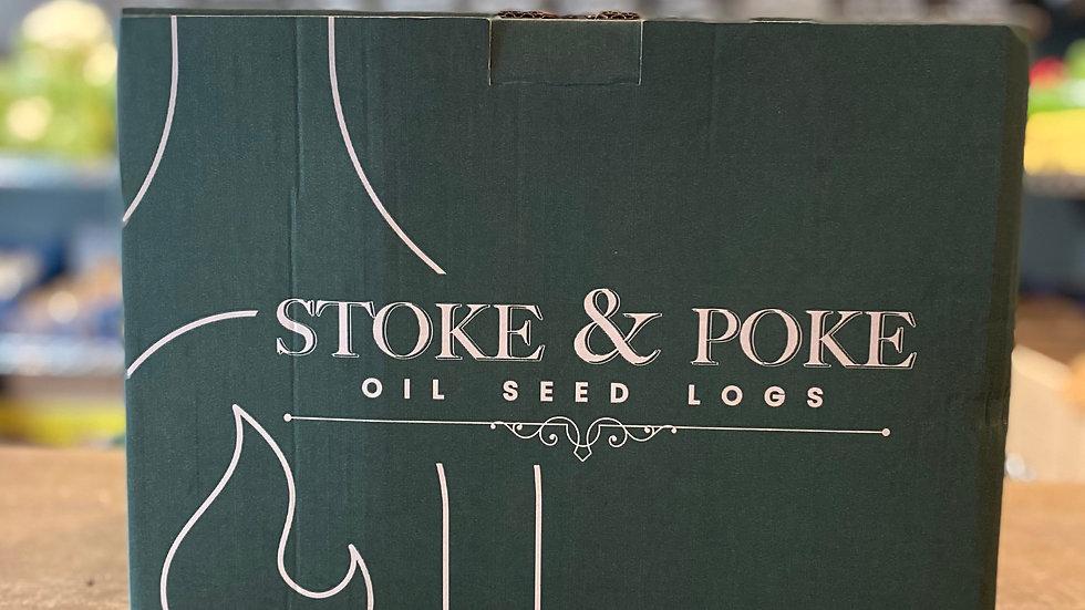 Stoke & Poke oil seed logs