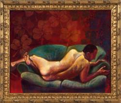 Eliaz Slonim Green Sofa Paintings