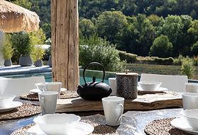 Prendre son petit déjeuner sur la terras
