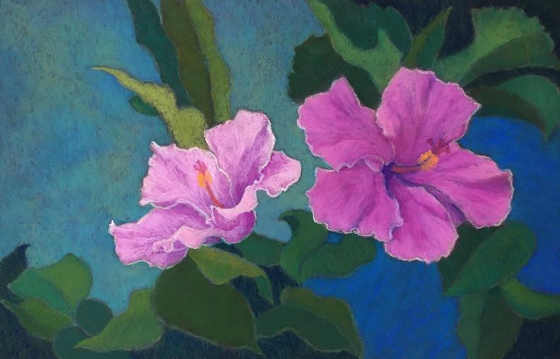 pink hibiscus 13x20 pastel.jpg