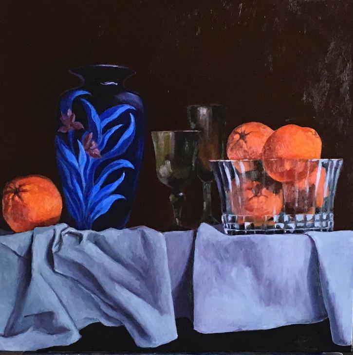 blue vase with navel oranges.jpg