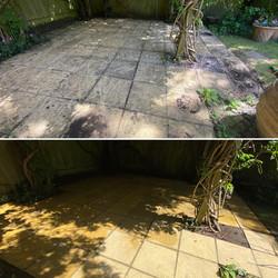 Slabbed patio