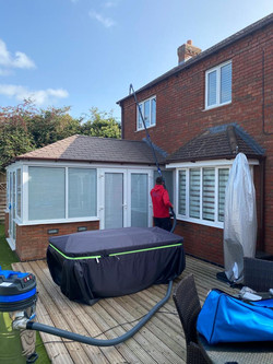 over conservatory clean