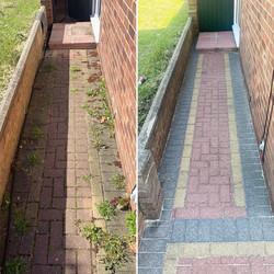 block paved path