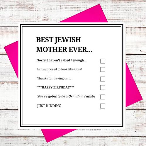 JEWISH MOTHER GREETING CARD