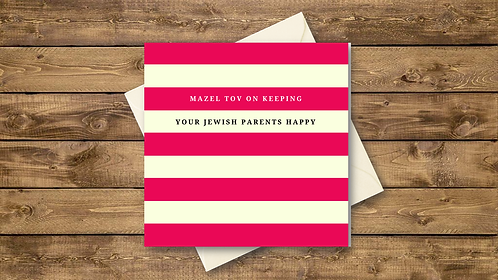 FUNNY JEWISH ENGAGEMENT CARD