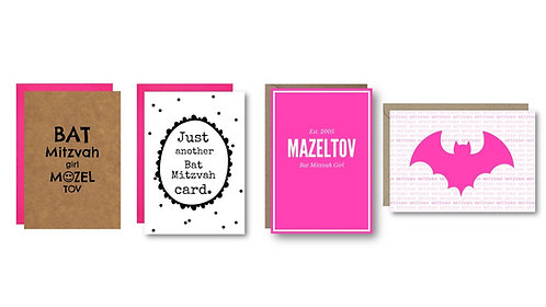Bella Jacob Jewish Greeting Cards www.bellajacob.com Bat Mitzvah Cards