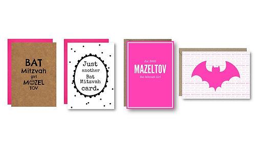 Bella Jacob Jewish Greeting Cards www.bellajacob.com Bat Mitzvah Cards