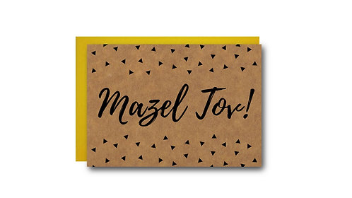 Mazel Tov Card, Mazal Tov Card, Mazeltov Card, Jewish Greeting Cards