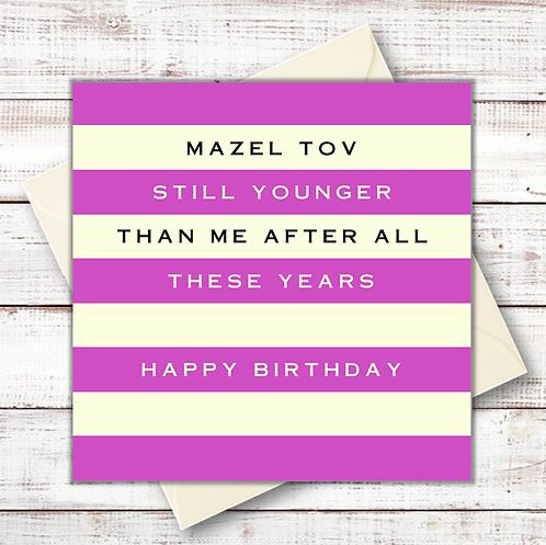 JEWISH BIRTHDAY CARDS
