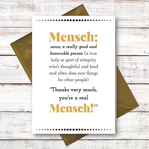 MENSCH - THANK YOU (CL10)