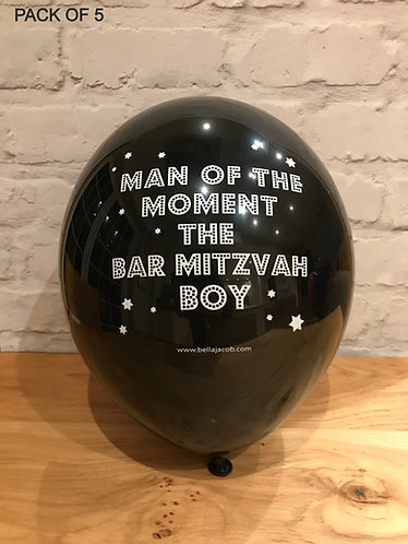 MAN OF THE MOMENT THE BAR MITZVAH BOY BALLOONS