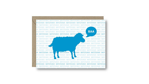 MINI 'BAA MITZVAH' CARD