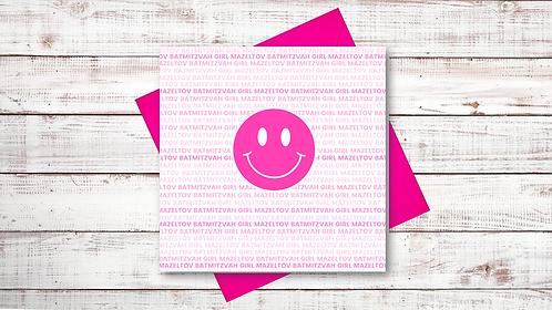 BAT MITZVAH CARD: SMILEY (073)