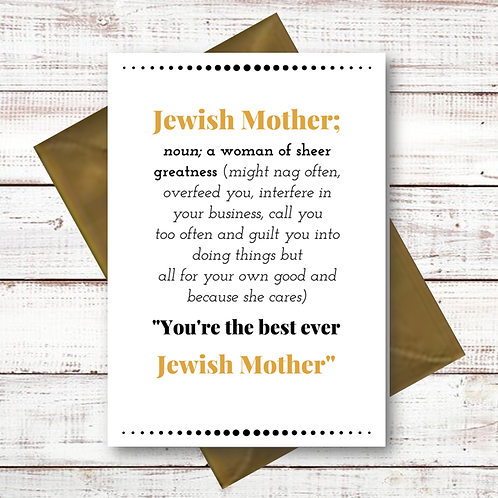 JEWISH MOTHER (CL09)