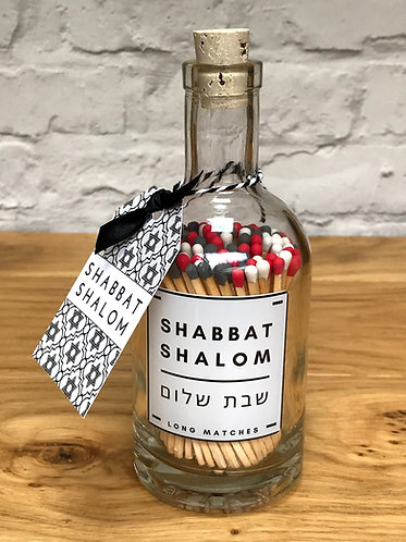 SHABBAT MATCH BOTTLE (Grey Red White)