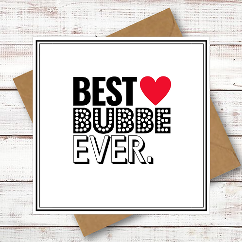 BEST BUBBE EVER (MZL023)