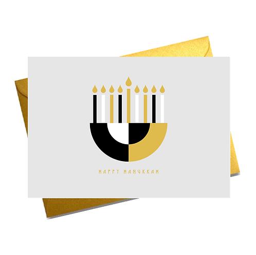 FOILED HANUKKAH CARDS (PACK OF 5)