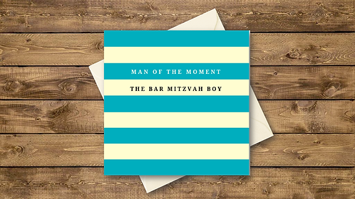 man of the moment bar mitzvah card