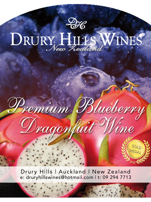 Premium Blueberry Dragonfruit Wine
