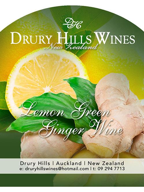 Lemon & Green Ginger Wine