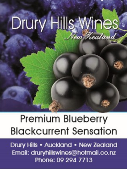 Premium Blueberry Blackcurrent Sensation Wine