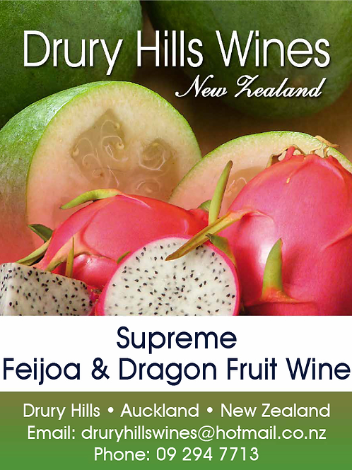 Supreme Feijoa & Dragonfruit Wine