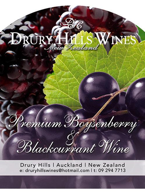 Premium Boysenberry Blackcurrent Wine