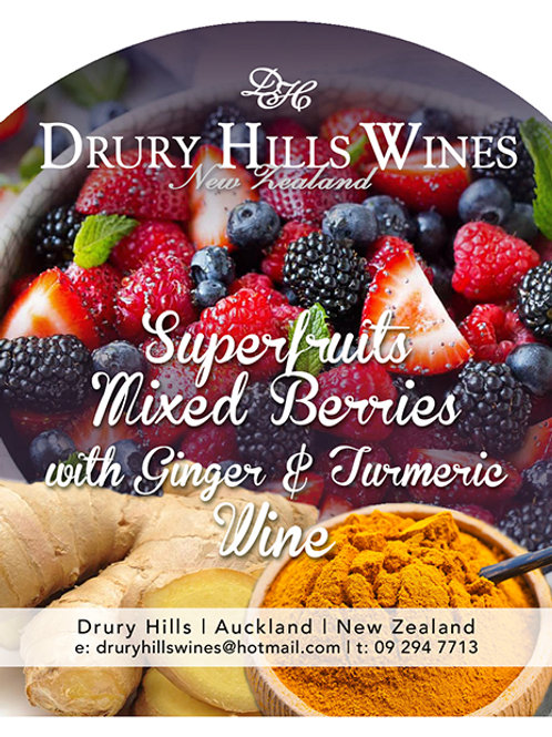 Superfruit Mixed Berries with Ginger & Turmeric Wine