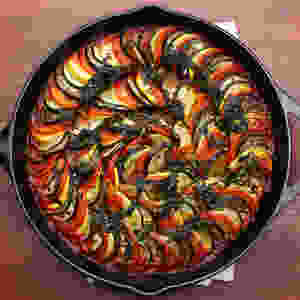 ratatouille in cast iron pan